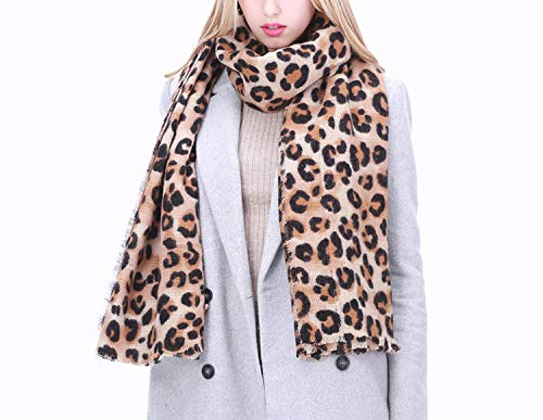 Cashmere Winter Leopard Scarf Women Shawl Plaid Blanket Scarf Gorgeous Wrap, Deep Color, 200cm-85cm at Amazon Womens Clothing store: