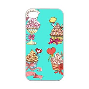 Custom Colorful and Delicious Cakes Case for iPhone 4,4S 100% TPU (Laser Technology)