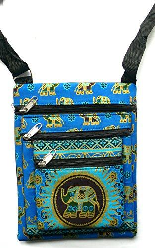 Blu 3tasca elefante borsa a spalla con tracolla regolabile