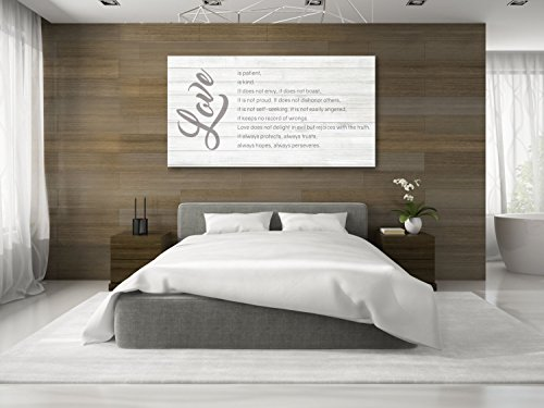 Love Is Patient Canvas Decor. 1 Corinthians 13:4-7 - The Perfect Anniversary Gift
