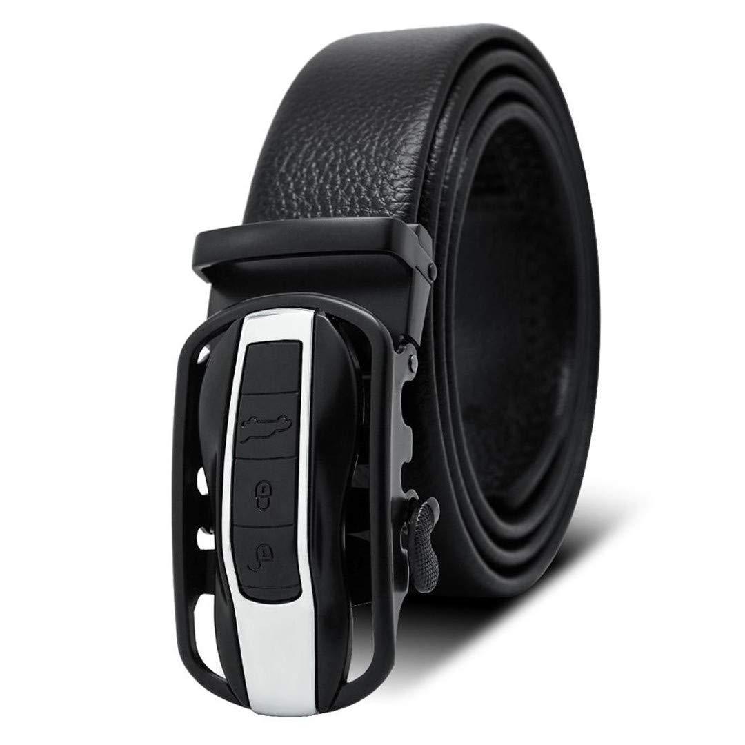 JUIHUGN Famous Black Belt Men t Genuine Luxury Leather Belts for Men,Strap Male Metal Automatic Buckle AC040A0885 120cm