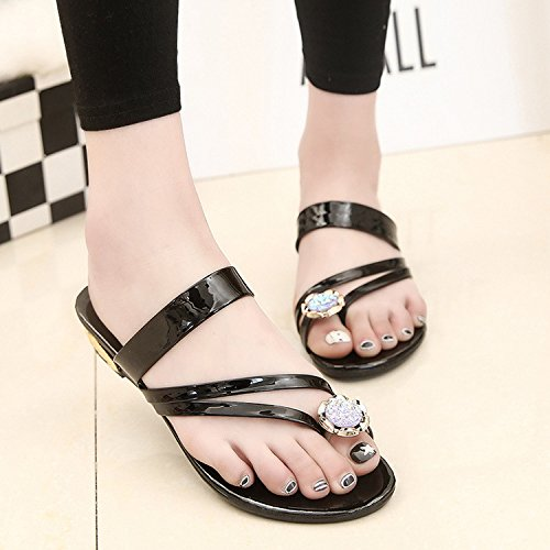 Flat Open Bottom Toe Toe women Slope slippers Female Wear Beach Fashion Sandals Golden Students Summer Wild With H1wgvR