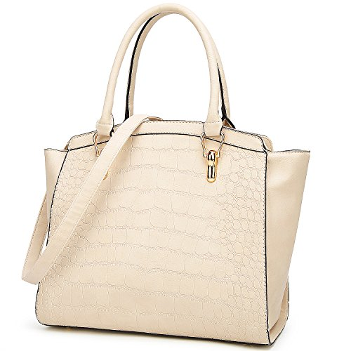TcIFE Purses and Handbags for Womens Crocodile Satchel Shoulder Tote Bags ()
