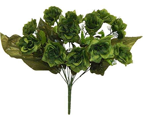 Artificial Fake Silk Daisy Flower Bouquet 1Bunch Green - 1