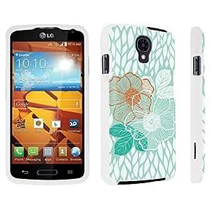 DuroCase ? LG Volt LS740 / F90 Hard Case White - (Mint Flower)