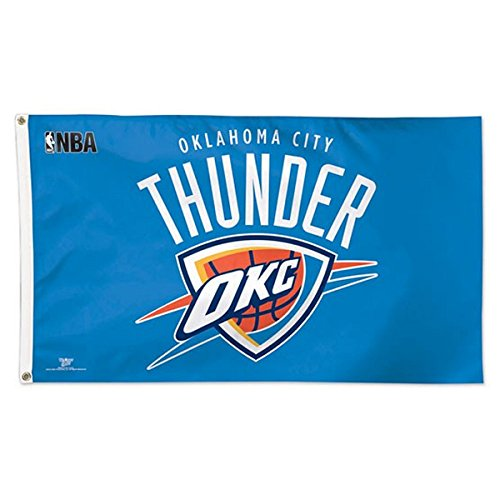 NBA Oklahoma City Thunder 02379115 Deluxe Flag, 3' x 5'
