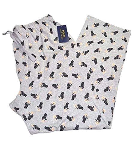 Polo Ralph Lauren Mens Flannel Pajama Sleep Pants (Large, Gray)