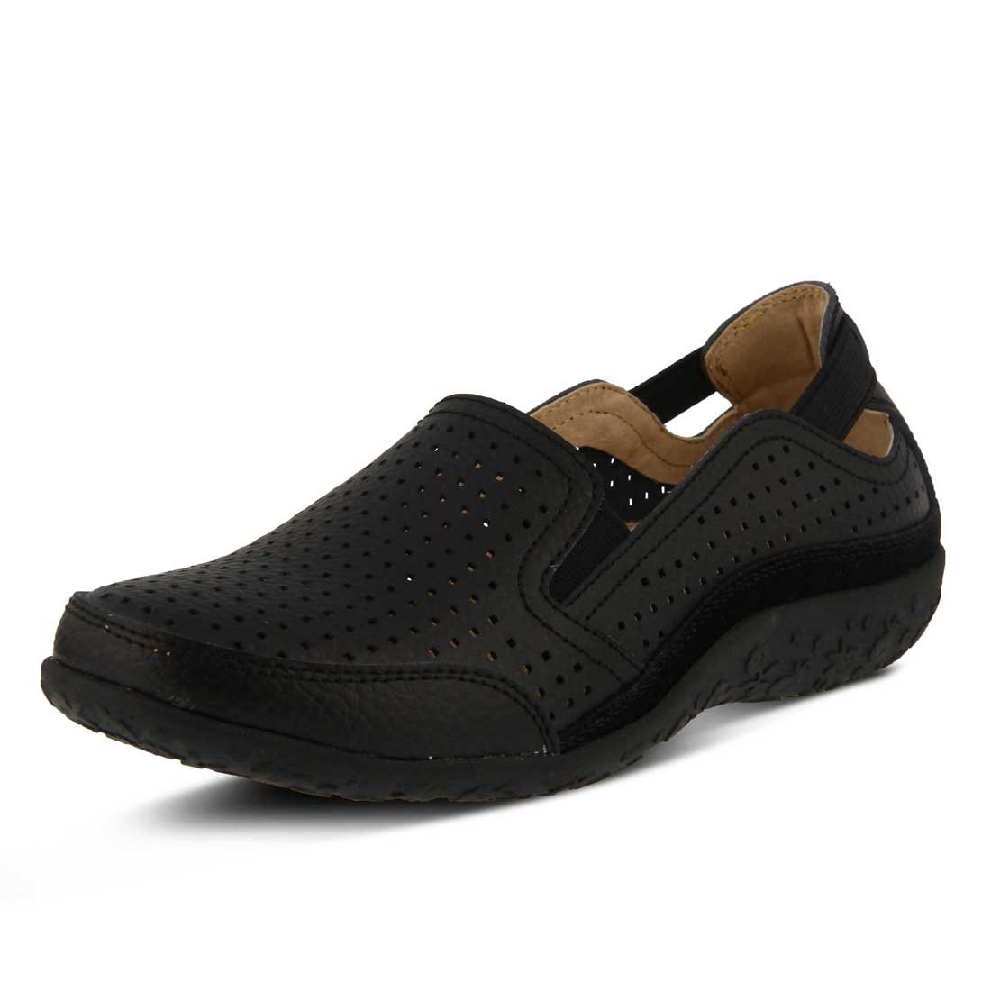 Spring Step Women's Juhi Perforated Slip On B06XQGH5K2 37 D EU / 6.5-7 D US Women|Black
