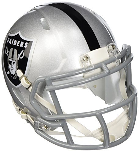 Riddell Revolution Helmets - Riddell Oakland Raiders NFL Replica Speed Mini Football Helmet
