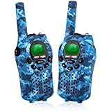 Westayin Walkie Talkies for Kids, Range Up to 4 Miles with Vox-Hands Free, LCD Backlit Kids Walkie Talkies for Boys and Girls, 2 Pack (Blue Camo)