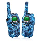 Westayin Walkie Talkies for Kids, Range Up to 3+Mile with Vox-Hands Free, LCD Backlit Kids Walkie Talkies for Boys and Girls, 2 Pack (Blue Camo)