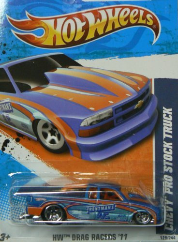 Hot Wheels HW Drag Racers '11 9/10 Chevy Pro Stock Truck Collector #129/244