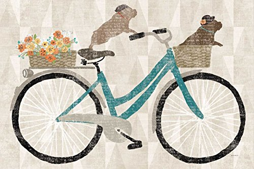 Frenchie Ride Poster Print by Sue Schlabach (12 x 18)