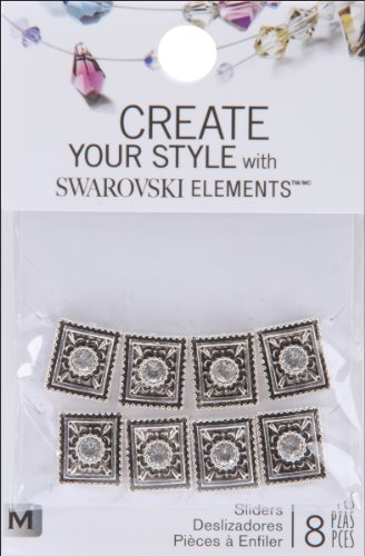 2 Hole Crystal Slider - Create Your Style with Swarovski Elements Crystal Portrait Slider