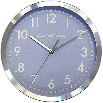 Amazon Com Geneva Clock 10 Metal Wall Clock 10027129 Home Kitchen