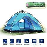 Likorlove Pop up Tenda da Campeggio 3-4 Persone, 3 Stagioni Impermeabile Anti UV Automatica Tenda per Viaggi all'aperto,Escursionismo,Pesca