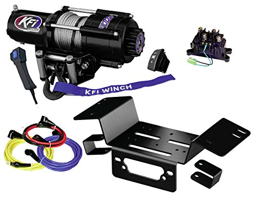 KFI Combo Kit - U45-R2 4500lbs Stealth Winch & Mount Bracket - 2014-2018 Honda Pioneer SXS 700 & SXS (700 Winch Mount)