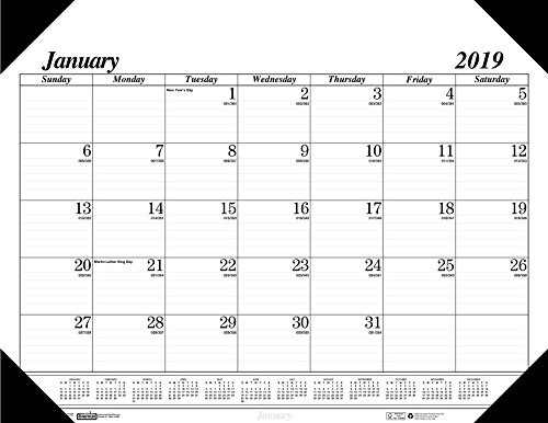 House of Doolittle 2019 Monthly Desk Pad Calendar, Economy, 22 x 17 Inches, January - December (HOD124-19)