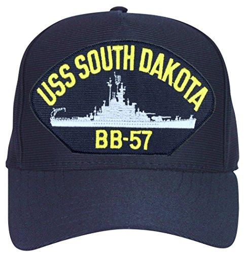 - USS South Dakota BB-57 Ball Cap with Custom Back Text