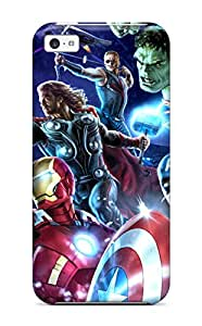 New Design Shatterproof YGSbyRG11558XKDHO Case For Iphone 5c (avengers Poster )