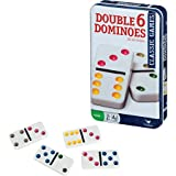 Double 6 Color Dot Dominoes in Tin