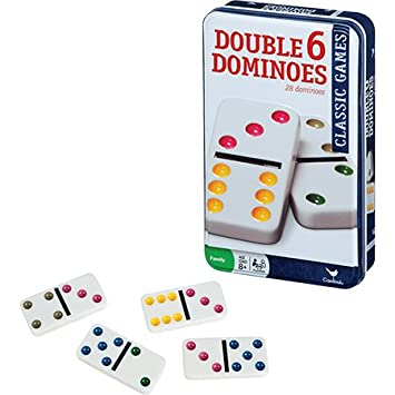 Amazon.com: Cardinal Double Six Color Dot Dominoes In Color ...