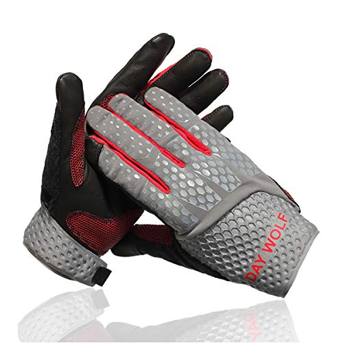 - New Full Finger Workout Gloves,Gym Fitness, Weight Lifting Wrist Wraps Genuine Leather Palm Protection & Strong Grip,Quality Breathable Comfort Gloves,Cycling, Pull Ups,Cross Training for Men & Women