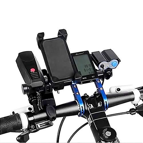 la Extension Doubles Bleu de de Guidon Vélo Vélo Bicyclette Double téléphone GPS de avec Attaches de Les pour Cadres de Bleu lumière ECT Surenhap Prolongateur dA7wZd