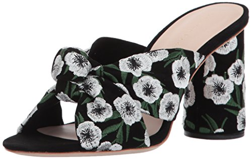 Loeffler Randall Women's Coco High Heel Knot Slide (Suede/Embroidery) Heeled Sandal Black sale latest release dates online cheap shop for cheap price original 9cuG5X