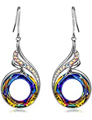 Kate Lynn Woman's ❤️Nirvana of Phoenix❤️ Swarovski Crystals Earrings with Gift Box, Soft Cloth