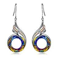 Woman's ❤️Nirvana of Phoenix❤️ Swarovski Crystals Earrings with Gift Box, Soft Cloth