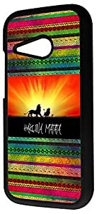 HTC ONE M8 Mini Aztec Hakuna Matata Cool Sunset Lion Design Case Back COVER PLASTIC and METAL by ruishername