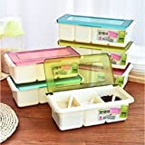 GuiXinWeiHeng 5pcs Seasoning box clamshell seasoning condiment seasoning box (color random)