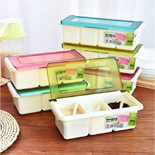 GuiXinWeiHeng 5pcs Seasoning box clamshell seasoning condiment seasoning box (color random) by GuiXinWeiHeng