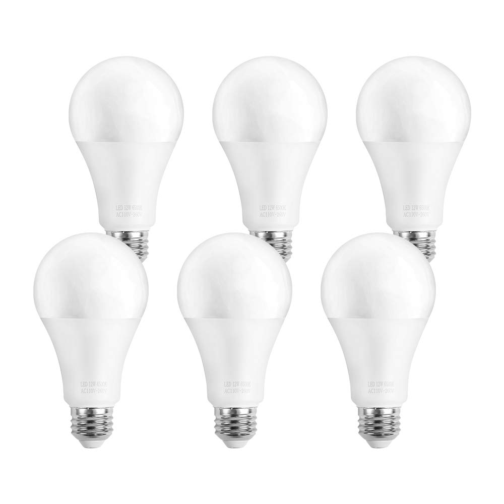 OCSEVE 100W Equivalent Daylight A21 LED Light Bulbs Replacement 6-Pack Non-Dimmable