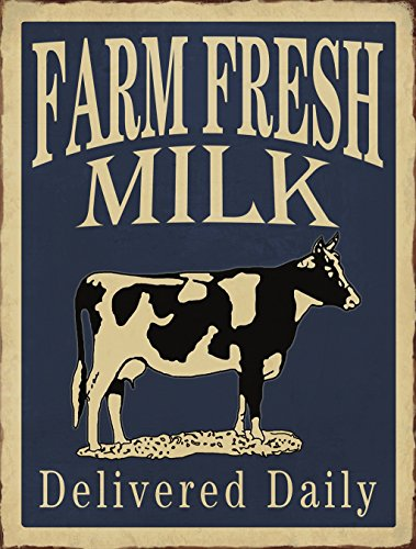 m Fresh Milk Delivered Daily Retro Vintage Tin Bar Sign Country Home Decor 10
