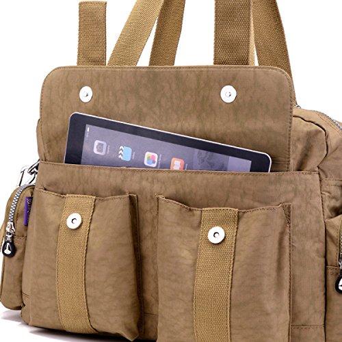 Frauen Jahrgang Leinwand Schulter Aktentasche Messenger Handtasche Seite Geschäft Tasche ,A-OneSize