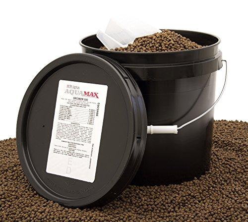 Purina Mills AquaMax Grower 500 Trout/Fish Food Pellets 12lb bucket by Purina Waggin' Train