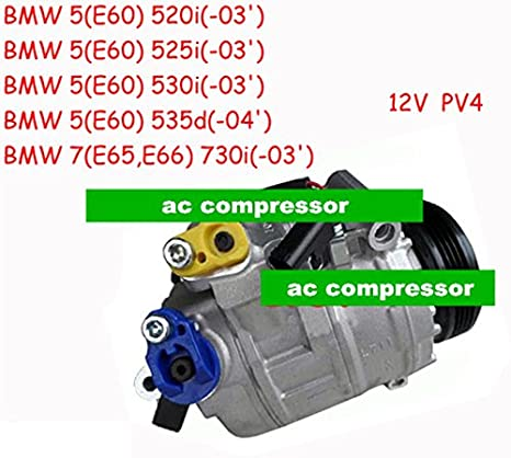 GOWE Air Condition Compressor for DENSO 7SEU17C Air Condition Compressor for Car BMW 5 E60 2003- 2004- 64526917859 64526983098 - - Amazon.com