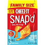 Cheez-It Snap'd, Cheesy Baked Snacks, Cheddar Sour