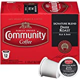 Community Coffee Signature Blend, Dark Roast, 12 Count Single Serve Coffee Pods, Pack of 6, Compatible with Keurig K-Cup Brewers