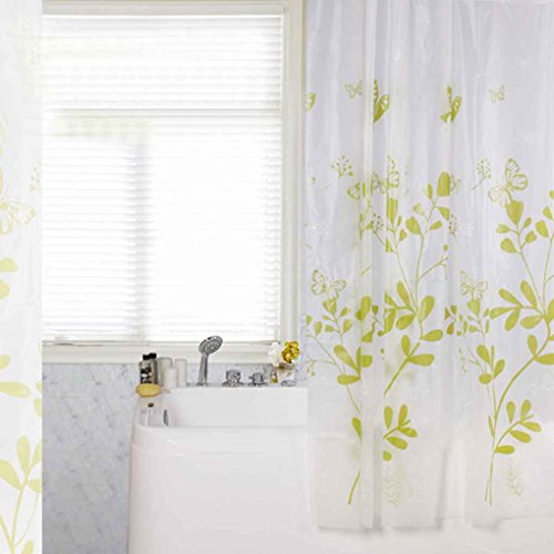 Omkuwl Butterfly Glass PEVA Mildew Free Shower Curtain Thickening Window Curtain 200180cm by Omkuwl (Image #2)