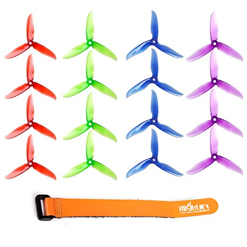 DALPROP 16pcs Cyclone T5046C 5046 3 Blades (5.0 x 4.6) CW CCW Propeller for FPV Racing Quadcopter Frame Kit (4sets, mix (Compatible Tri Colour)