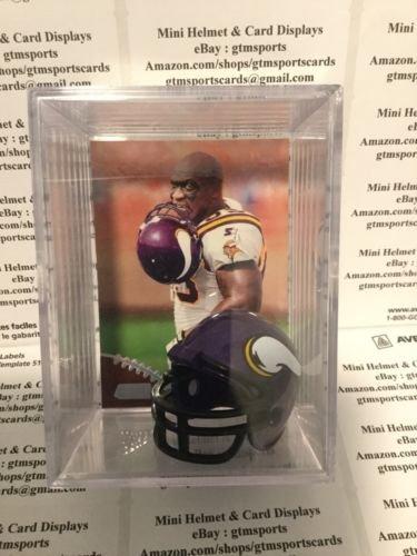 John Randle Minnesota Vikings - John Randle Minnesota Vikings Mini Helmet Card Display Case Collectible Auto Shadowbox Autograph HOF
