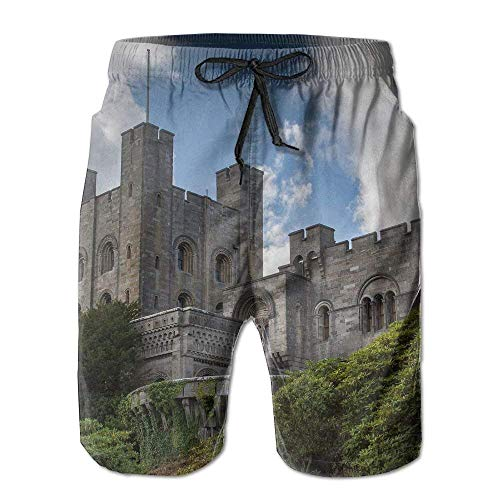 Penrhyn Castle Men's/Boys Casual Swim Trunks Short Elastic Waist Beach Pants with Pockets X-Large ()