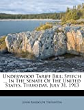 Underwood Tariff Bill, John Randolph Thornton, 1248873416