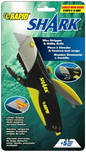 Rapid Tools RT00022 Shark Utility Knife with Wire Cutters...