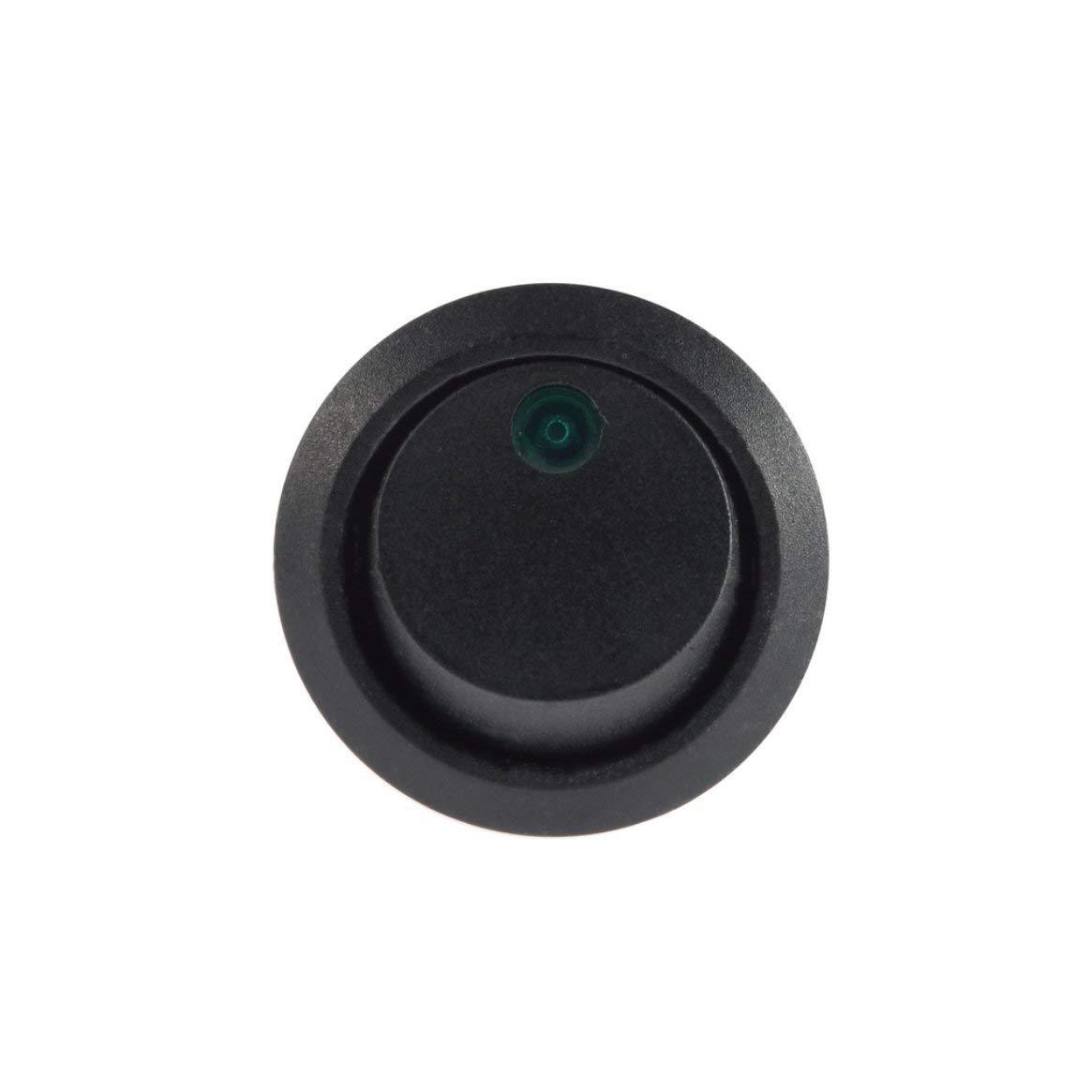Led Dot Licht 12 V Auto Auto Boot Runde Rocker ON//OFF Toggle SPST Schalter Lkw mit einem Schl/üsselloch-slot Unerw/ünschte Rotation zu verhindern