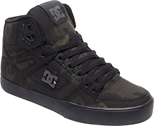 Dc Mens Puro High-top Wc Tx Se Skate Shoe Camo