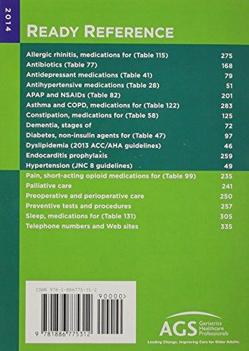 Geriatrics at Your Fingertips 2014 - http://medicalbooks.filipinodoctors.org